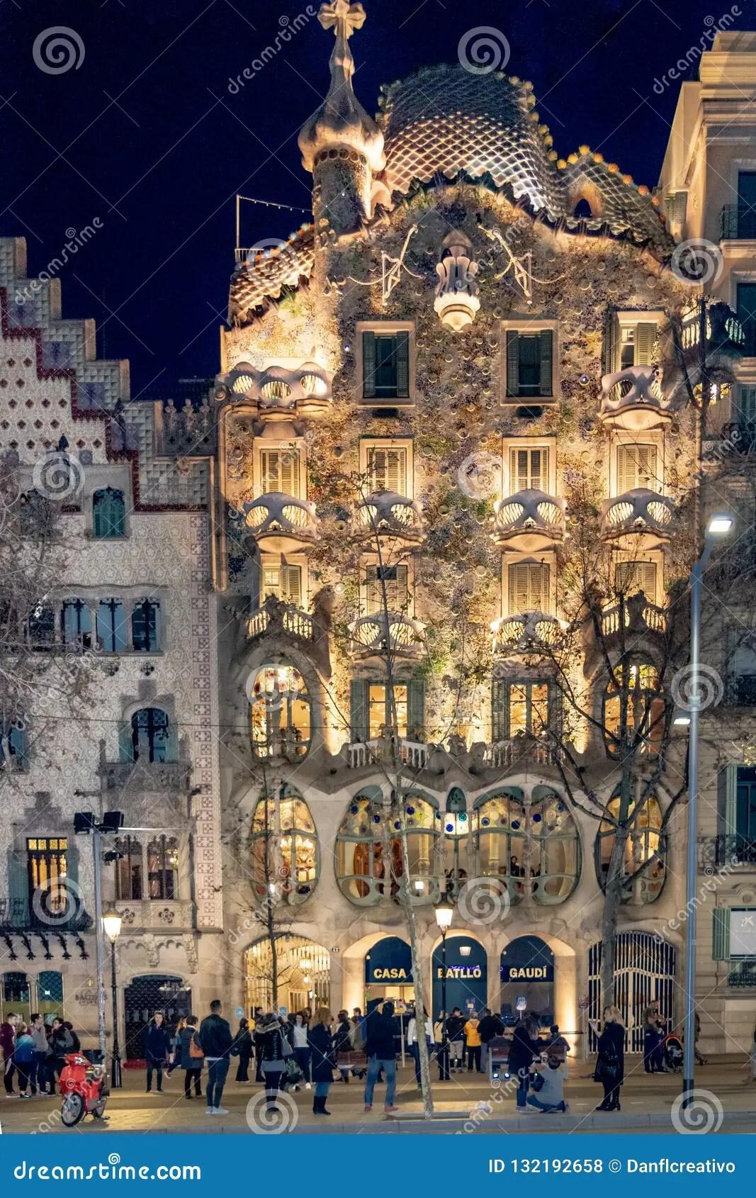 Gaudi Batllo House Building Barcelona Spain Editorial Stock Photo Image Of Famous Architect 132192658