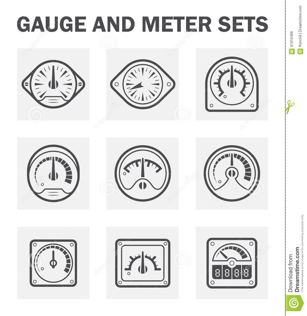 Gauge Meter Stock Vector