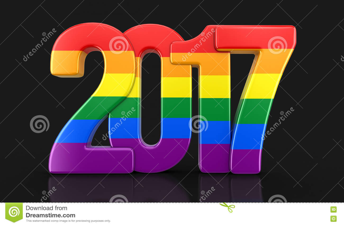 Gay Pride Color New Year 2017 Stock Illustration   Illustration of     Download Gay Pride Color New Year 2017 Stock Illustration   Illustration of  colored  christmas