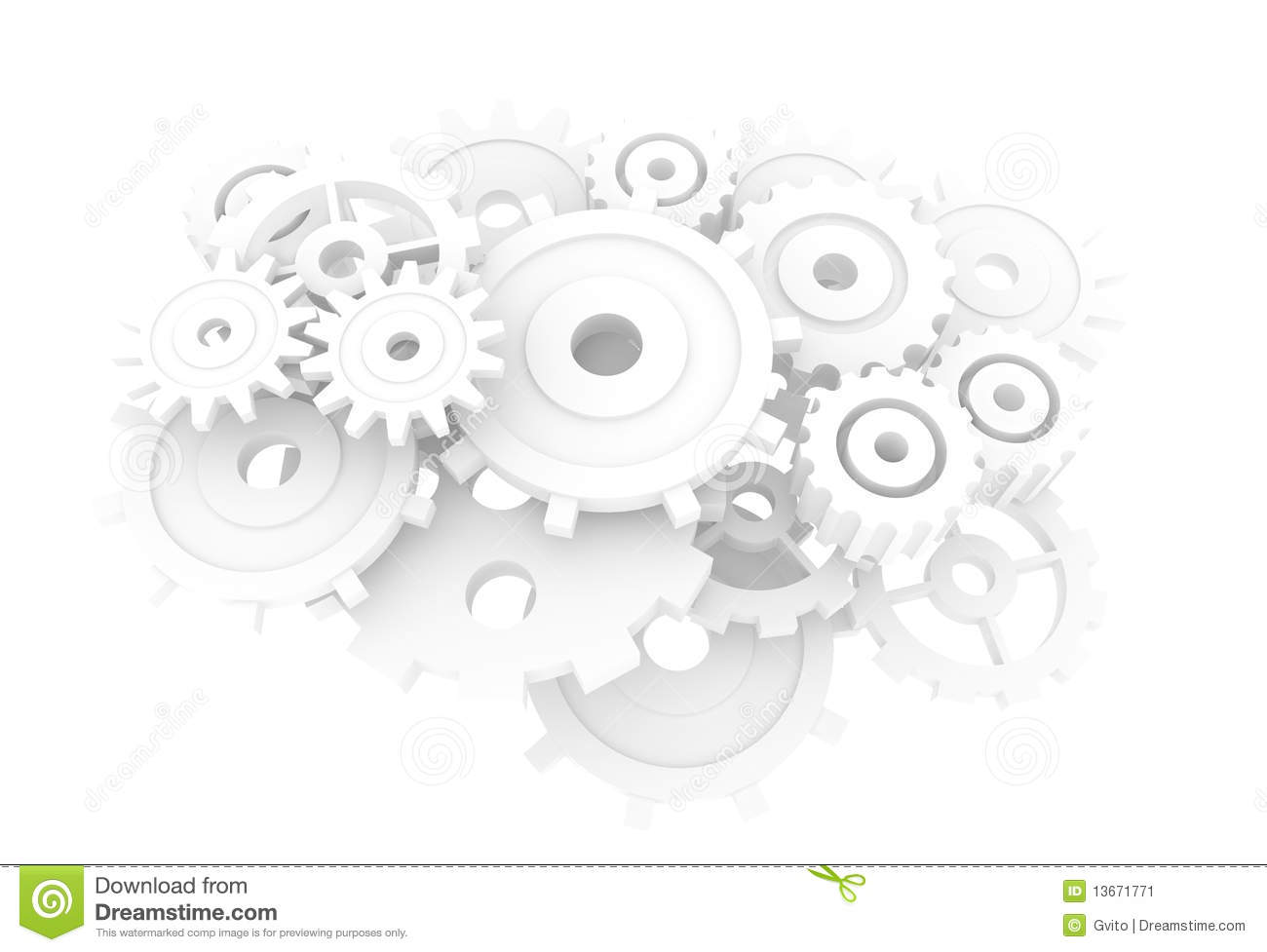 The Gear Background Stock Illustration Image Of Precision