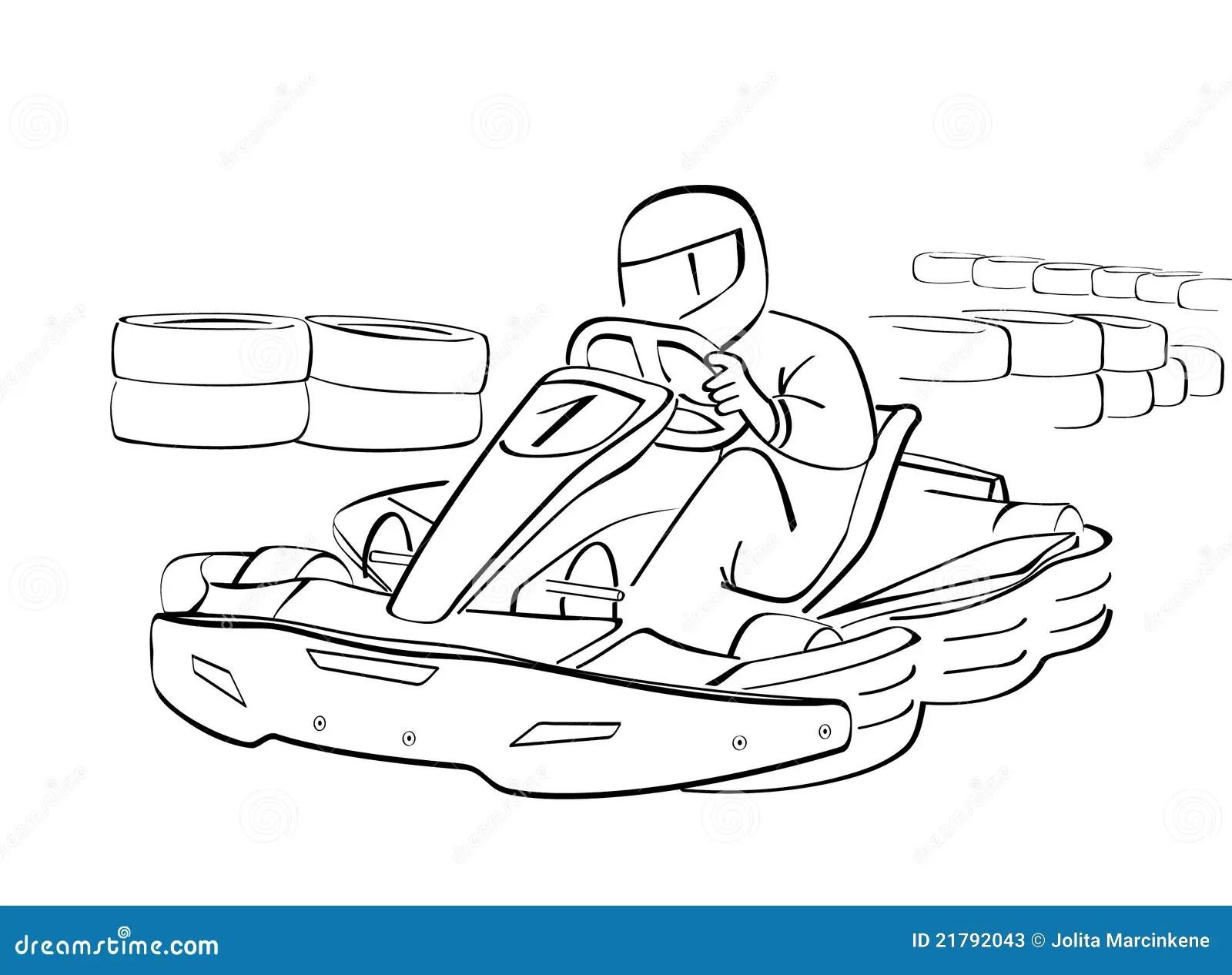 Gehen Kart Skizze Vektor Abbildung Illustration Von Zeichnung