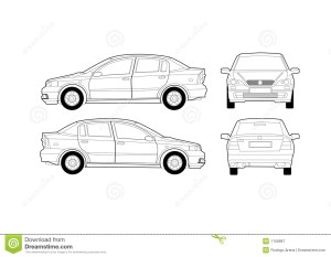 Generic Saloon Car Diagram Royalty Free Stock Photography