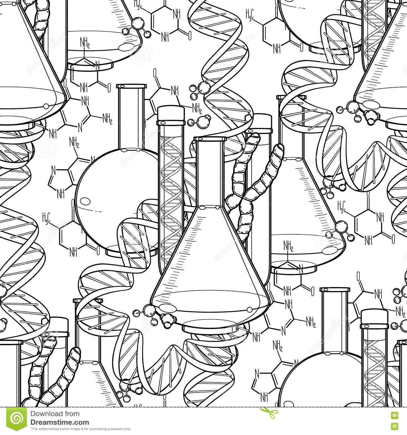 Genetic Research Pattern Stock Vector Illustration Of