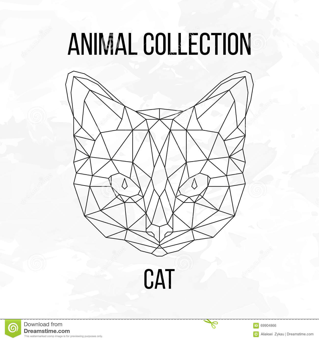 Geometric Cat Head Stock Vector Illustration Of Graphic