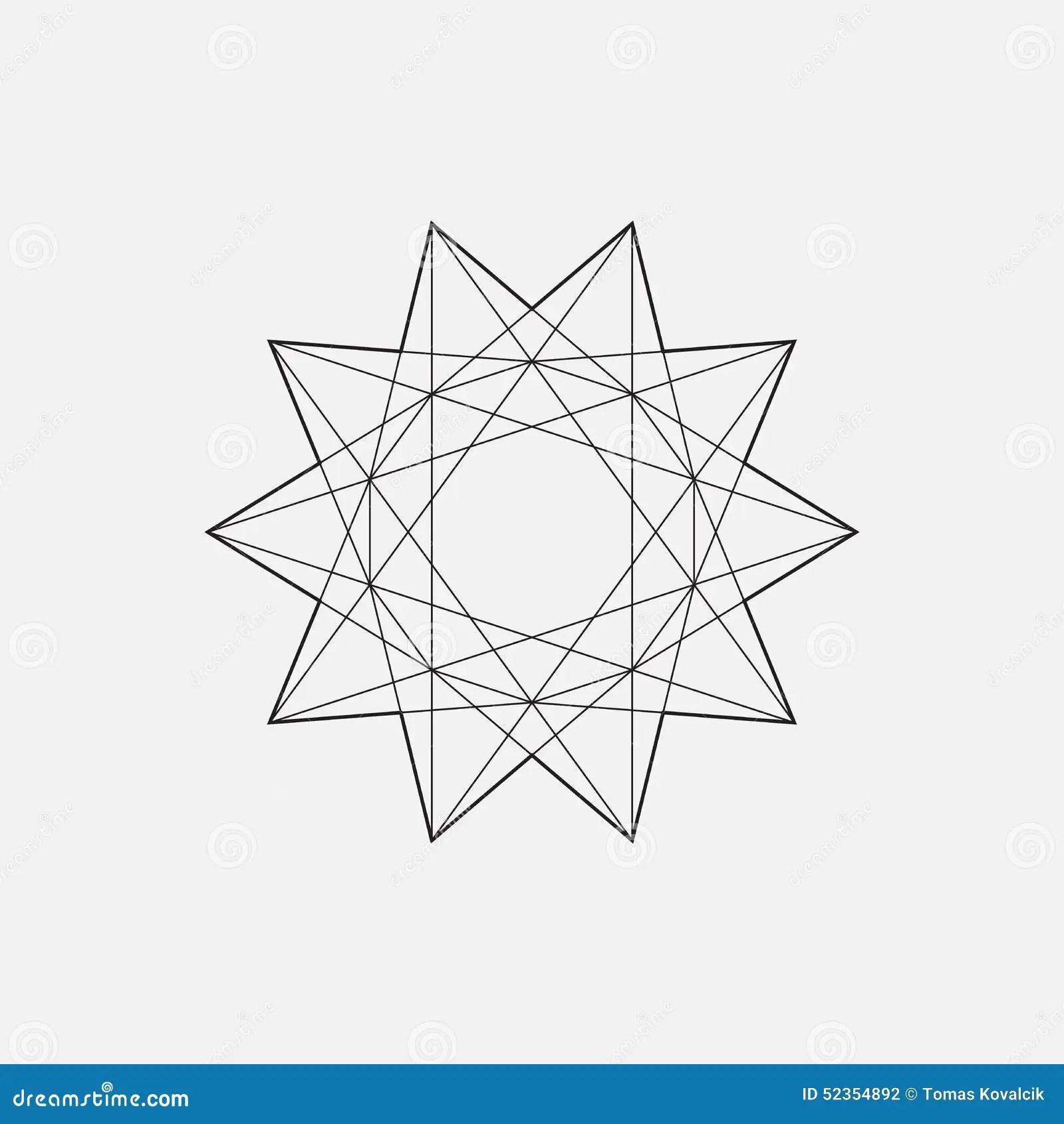 Geometric Element Star Shape Stock Vector