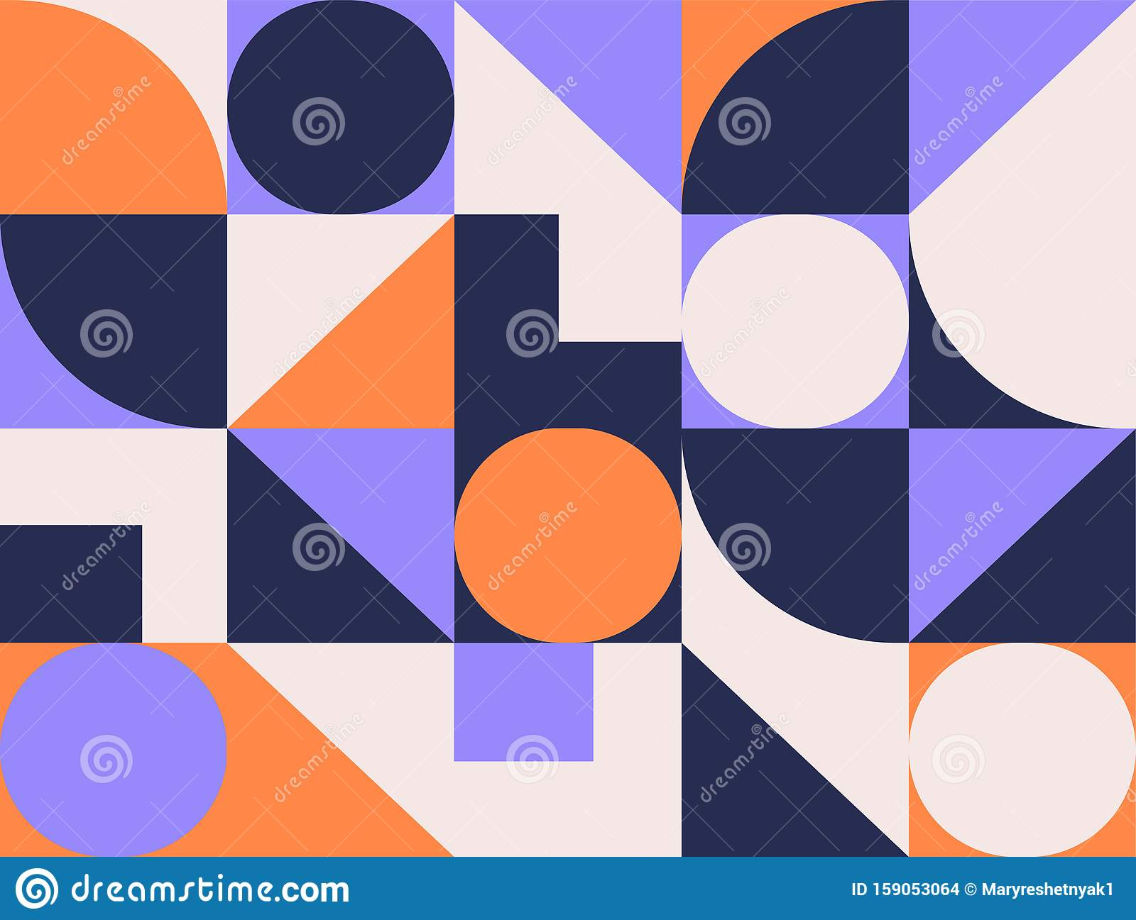 Geometric Pattern Background With Square Geometry Round