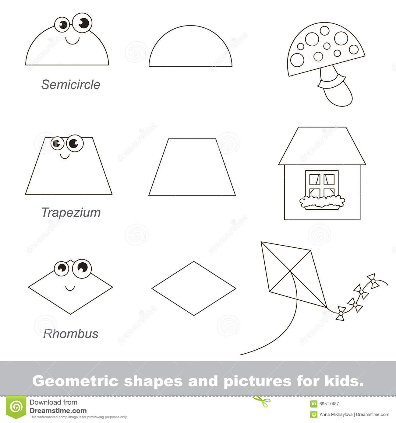 Counting Oval Shapes Worksheet