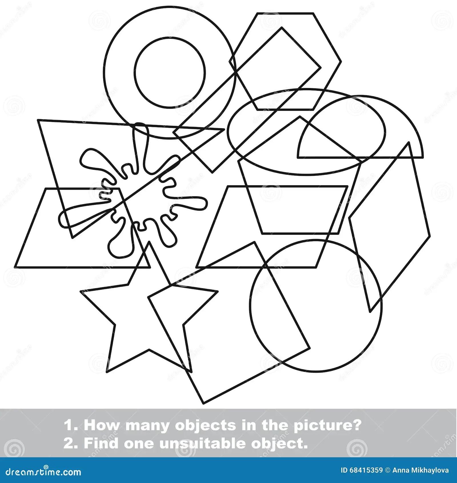 Geometric Shapes Set Mishmash Stock Illustration