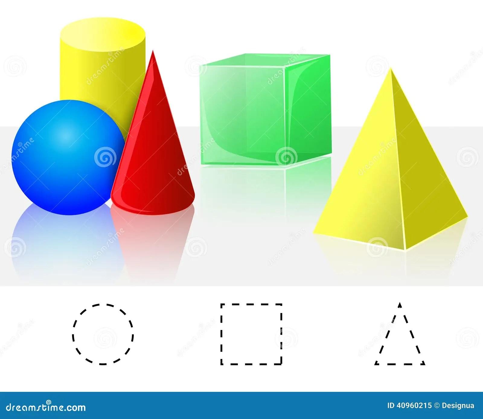 Geometrie Wurfel Pyramide Kegel Zylinder Bereich