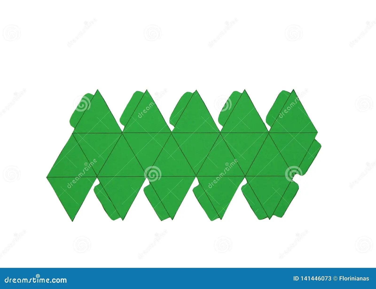 Geometry Net Of Platonic Solids Icosahedron 2 Dimensional