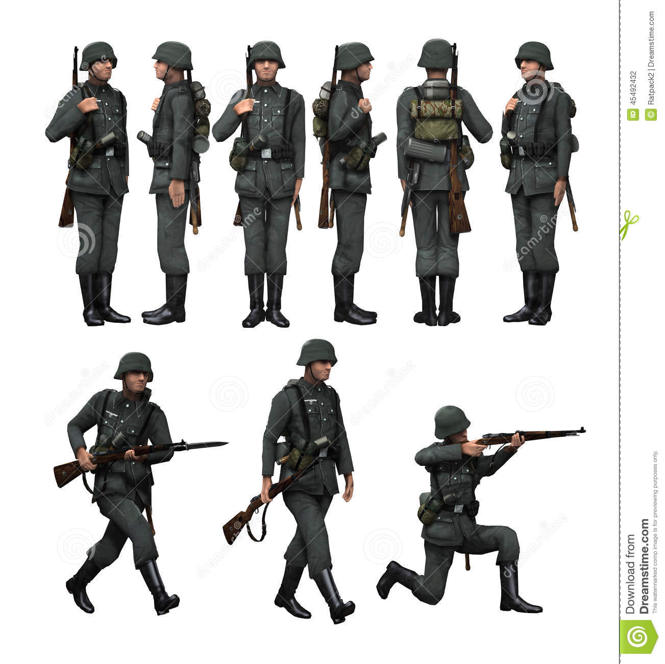 German Sol R Infantry Stock Photo Image Of History