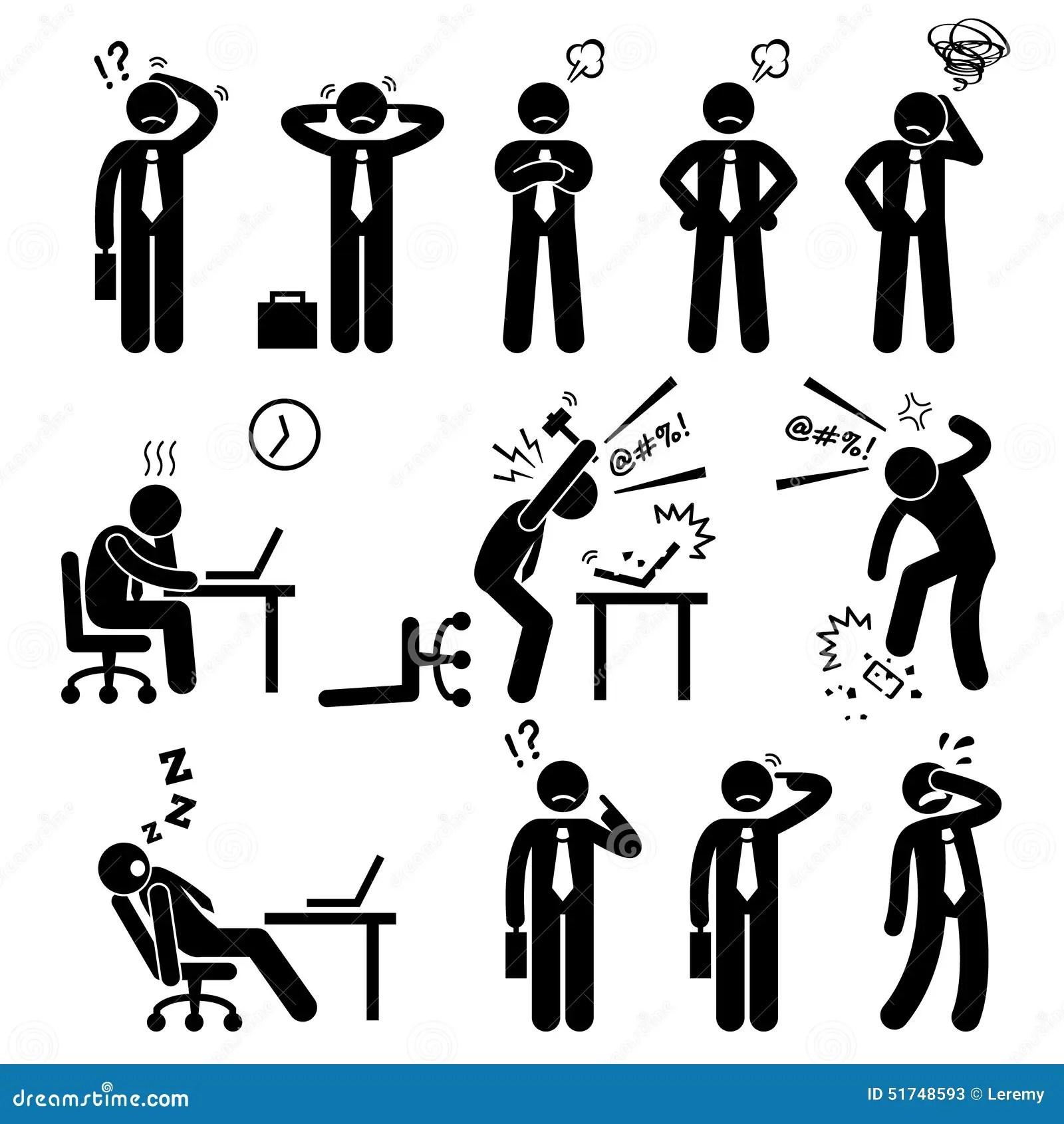 Geschaftsmann Business Man Stress Druck Arbeitsplatz