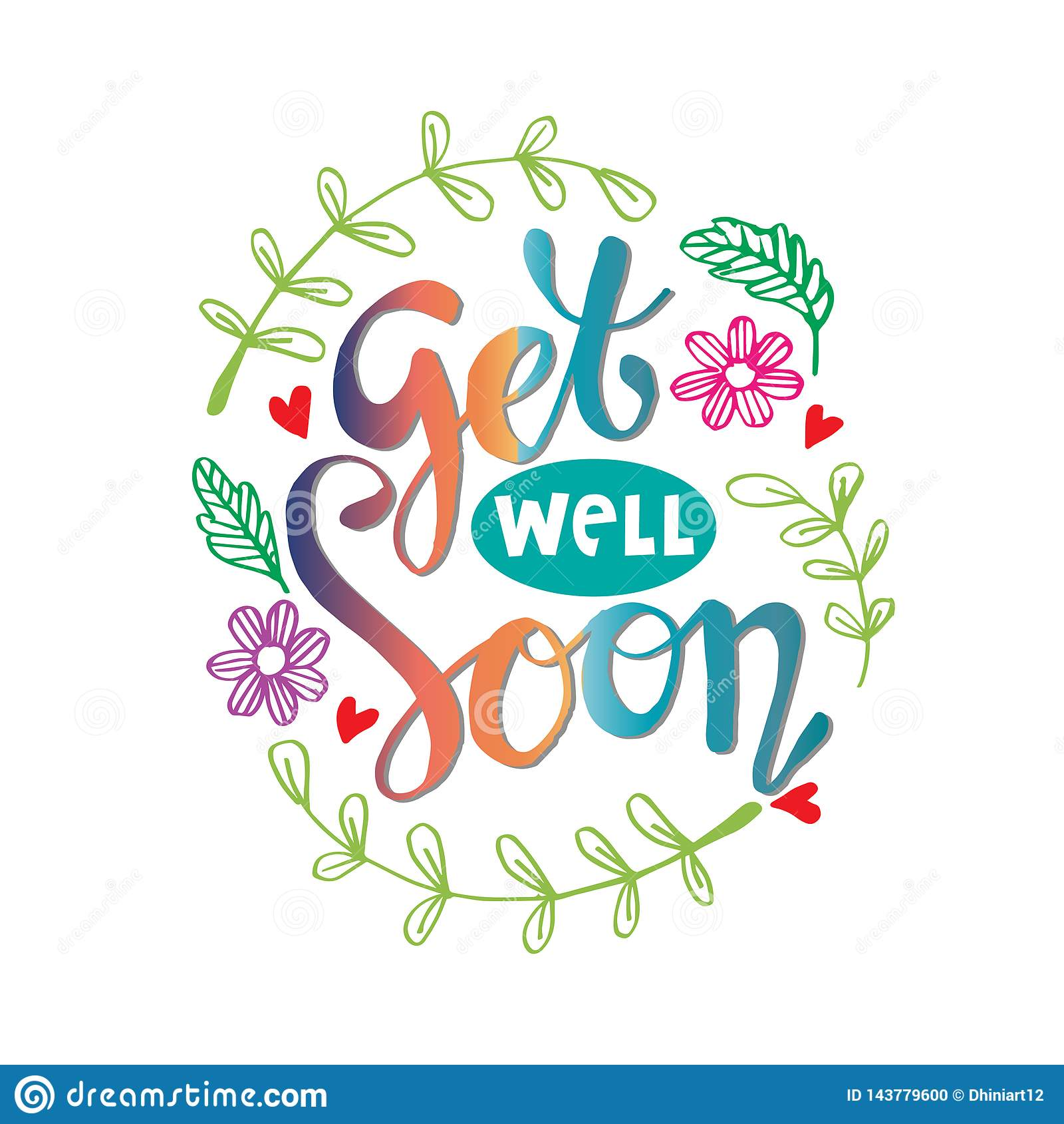 Get Well Soon Flowers Stock Illustrations 63 Get Well