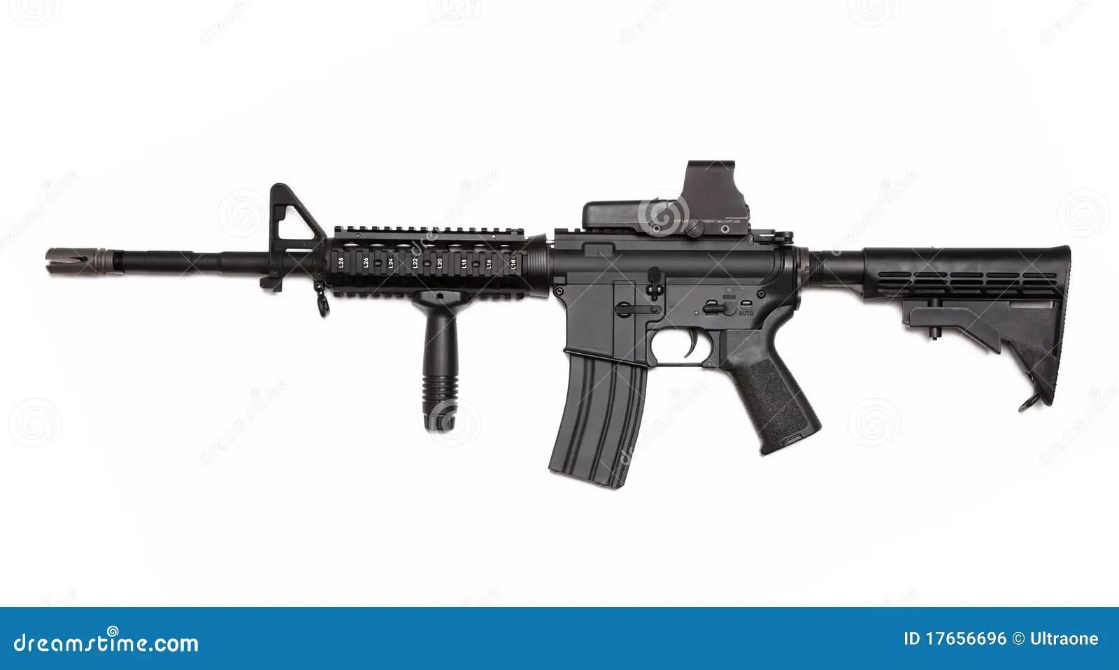Gewehr Der Amerikanischen Armee M4a1 Mit Ganz Eigenhandig