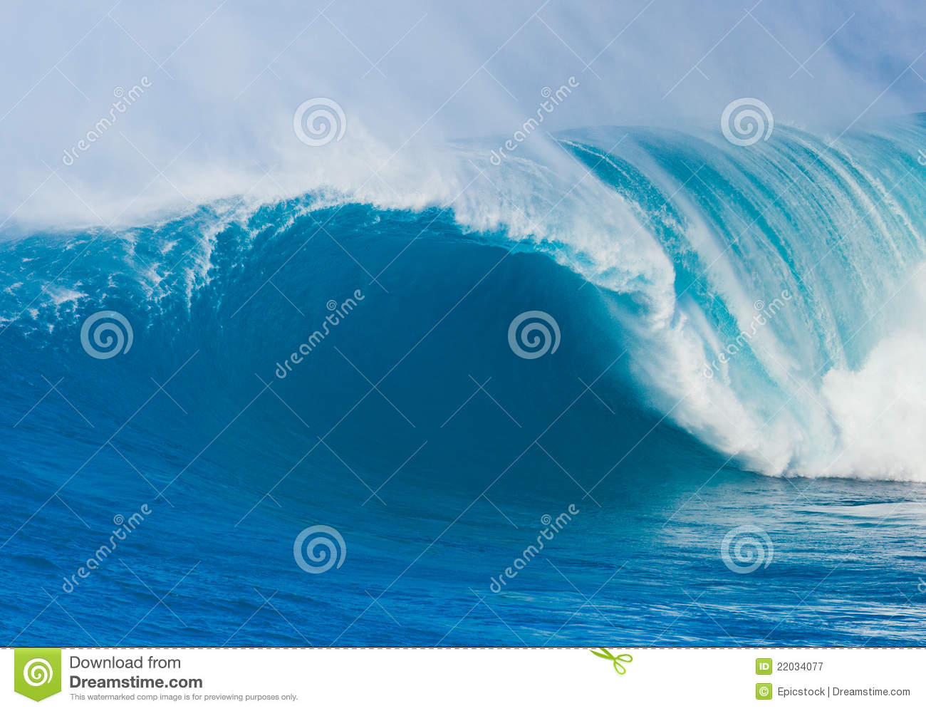 Giant Ocean Wave Royalty Free Stock Photography Image