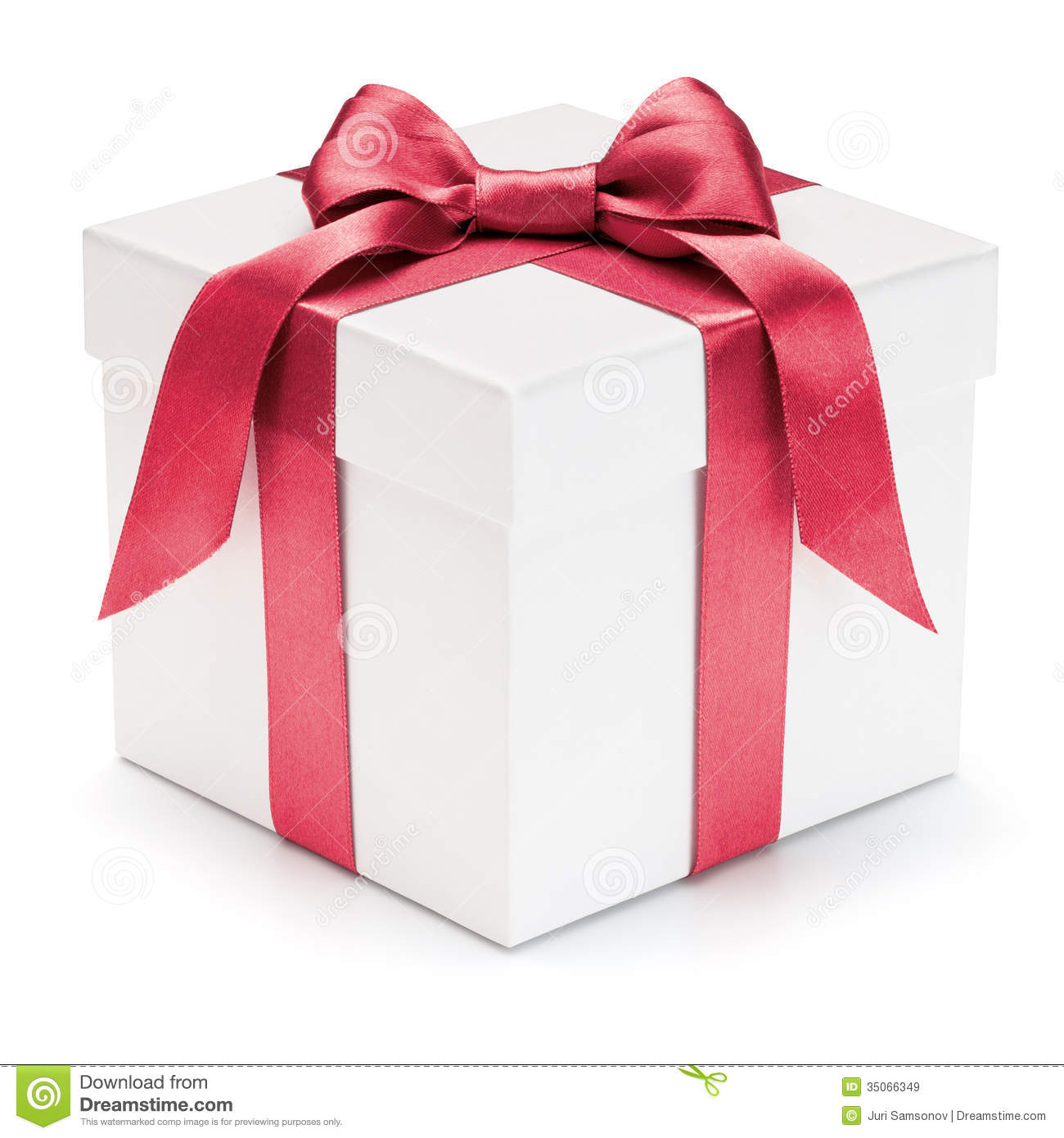 Gift Box With Ribbon And Bow Stock Image Image 35066349