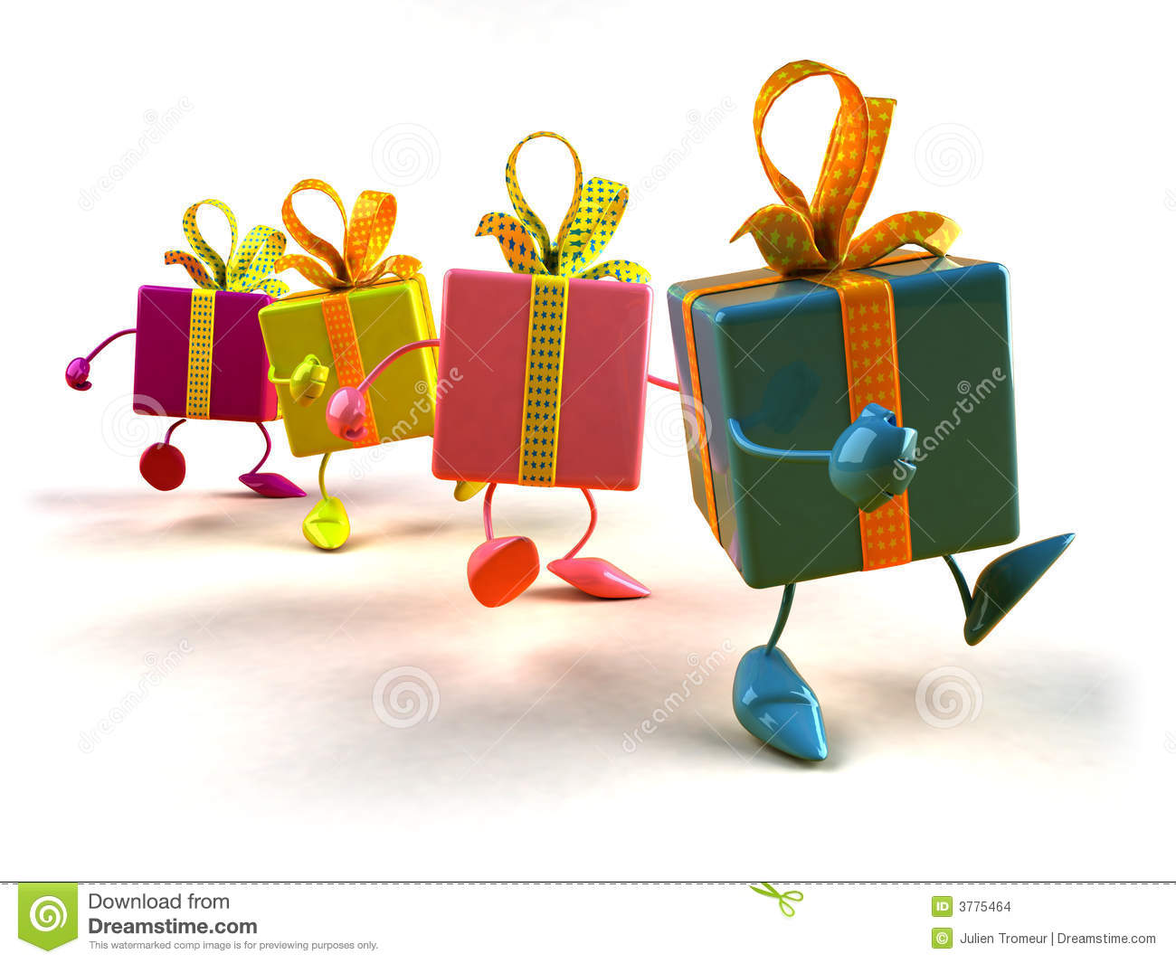 Gifts Walking Stock Images Image 3775464