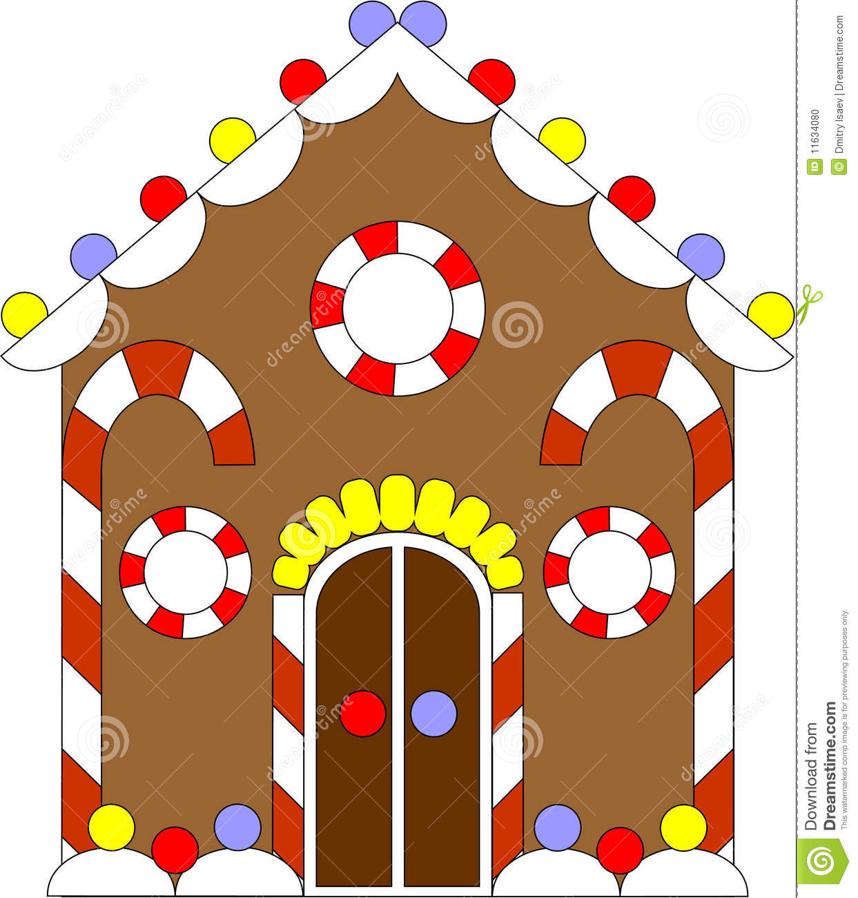 Picture Of Gingerbread House To Color
