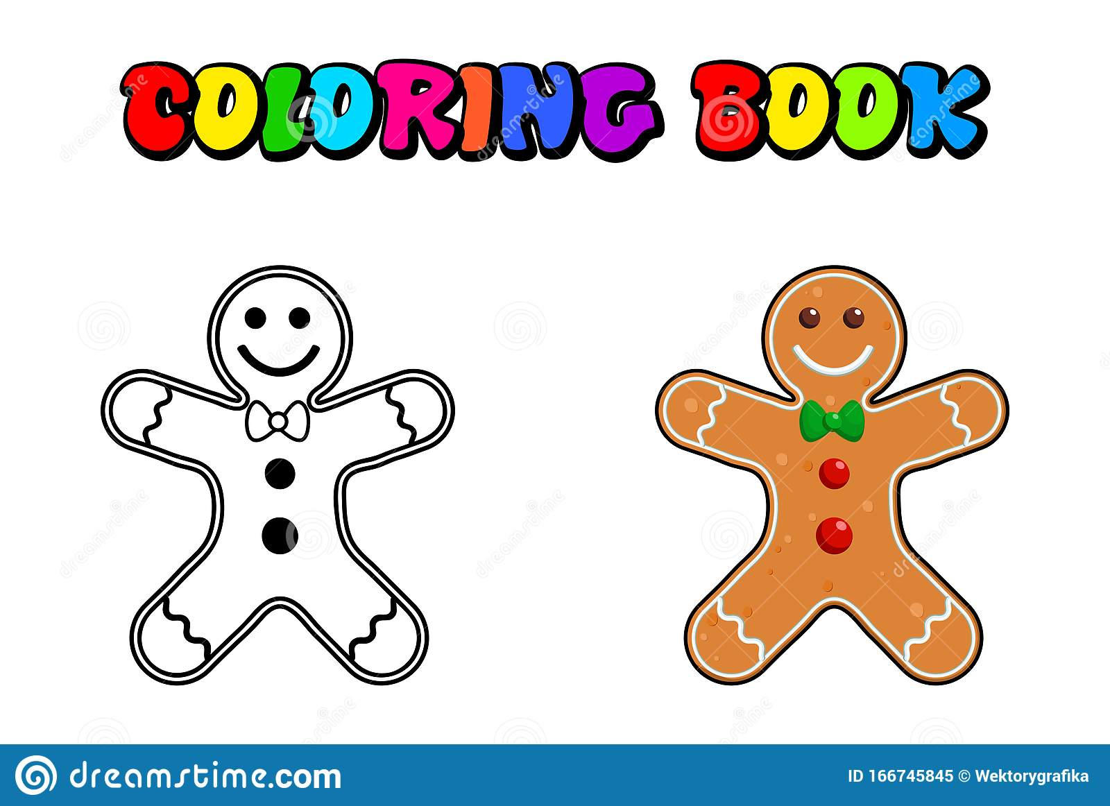 Gingerbread Man Coloring Book Pages Christmas Baking