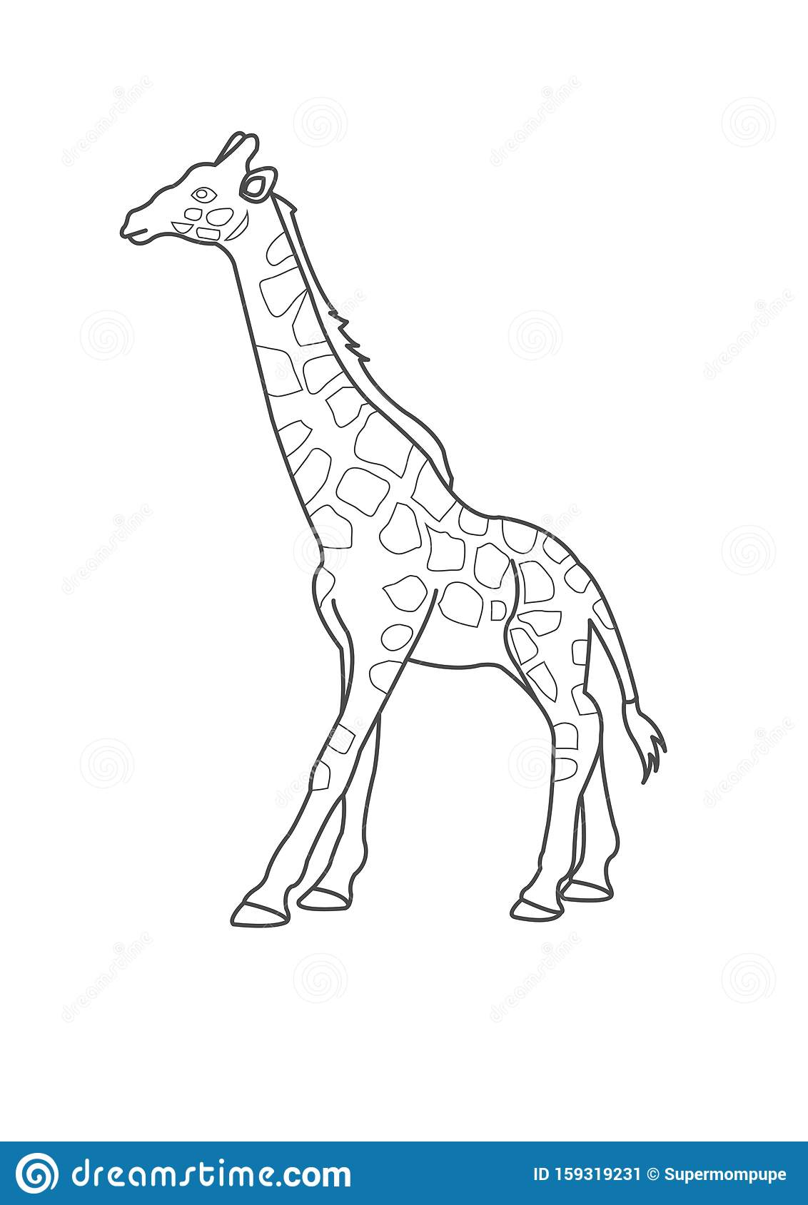 Giraffe Coloring Page For Kids Giraffe Coloring Worksheet