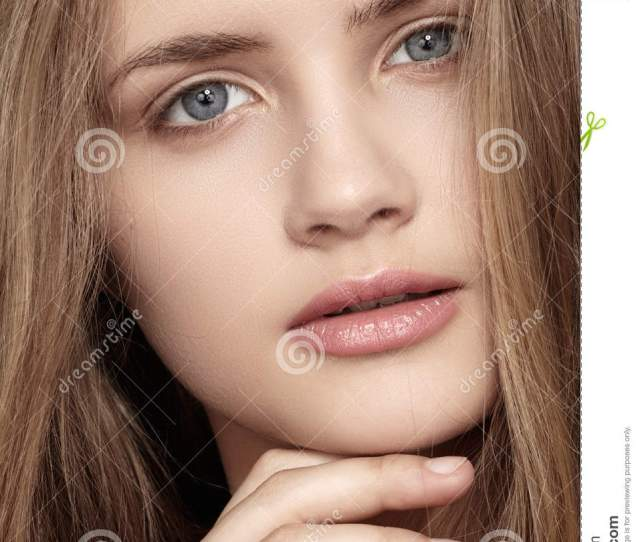 Girl With Beautiful Shiny Clean Face Health Skin