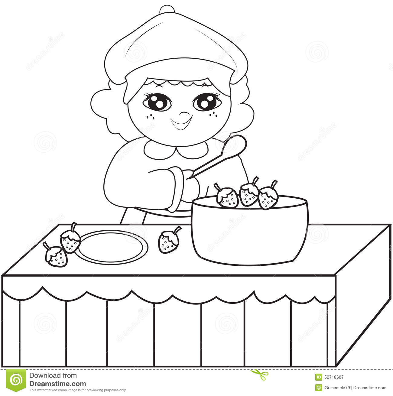 Preschool Cooking Coloring Pages Coloring Page