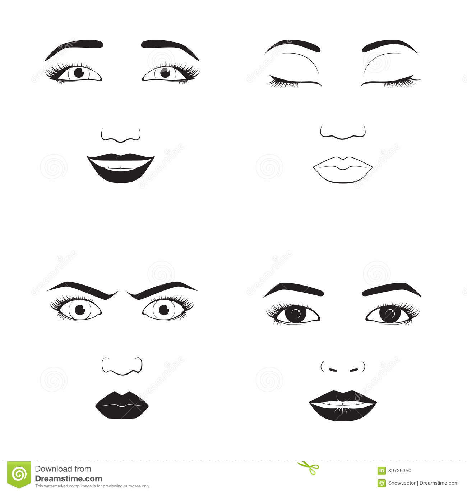 Face Less Woman Cartoon