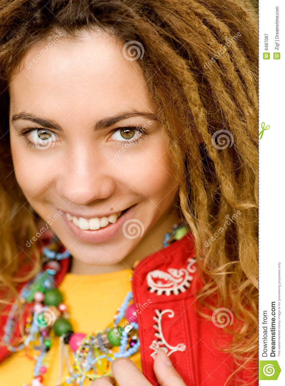Girl Rastaman Close Up Stock Image Image Of Braided