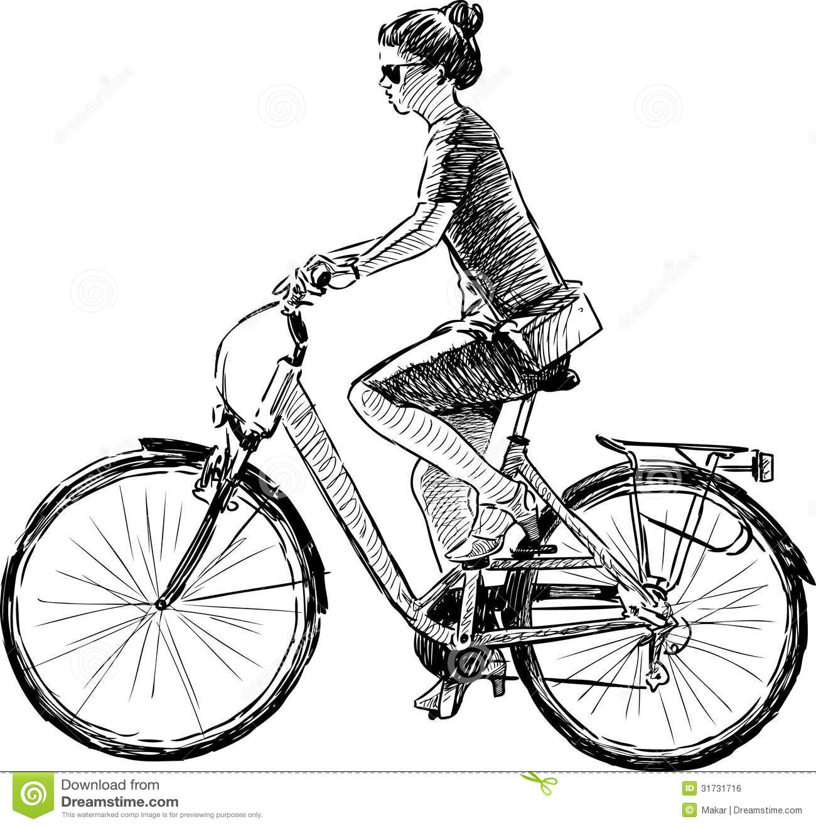Girl Riding A Bike Royalty Free Stock Image