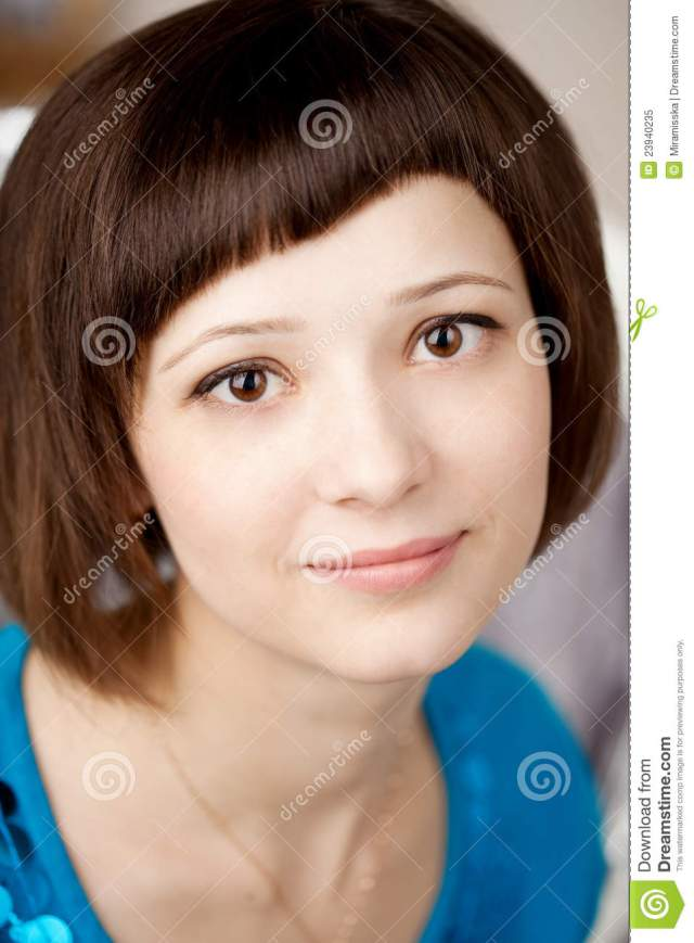Girl  with short  hair  stock image Image of female adult