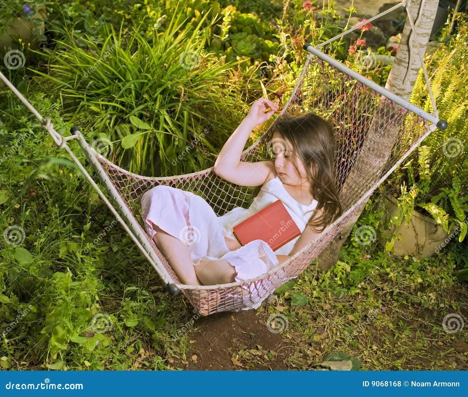 Girl Sleeping In A Hammock Stock Photo Image Of Dream