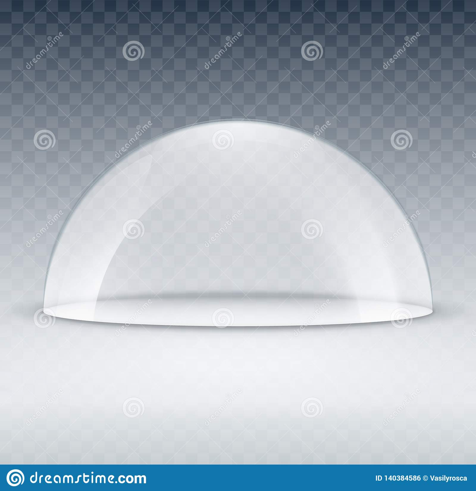 https www dreamstime com glass dome container mock up plastic dome model cover exhibition isolated blank vector transparent dome glass dome container image140384586