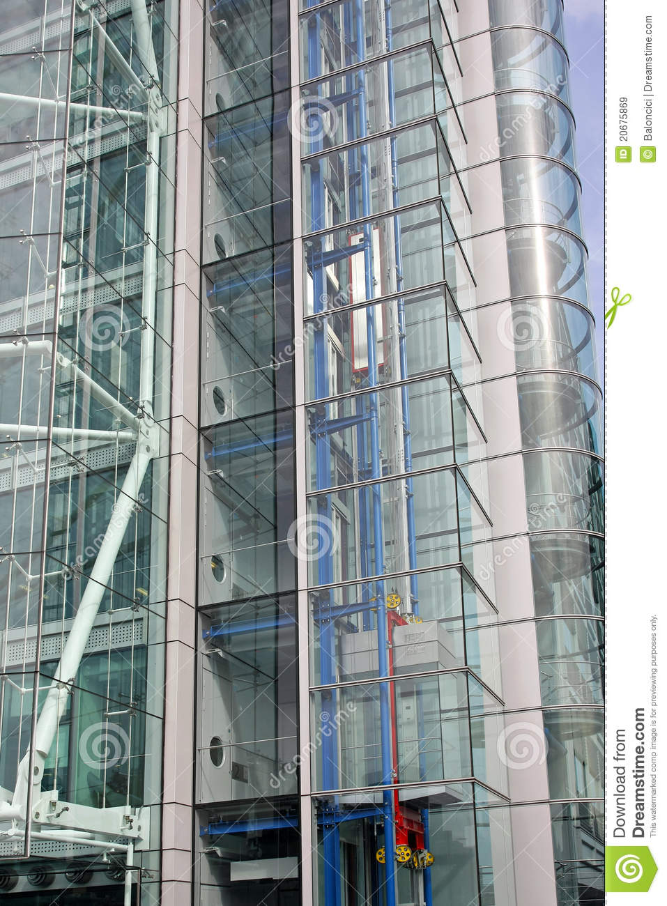 Glass Lift Shaft Stock Image Image Of Architecture Tower