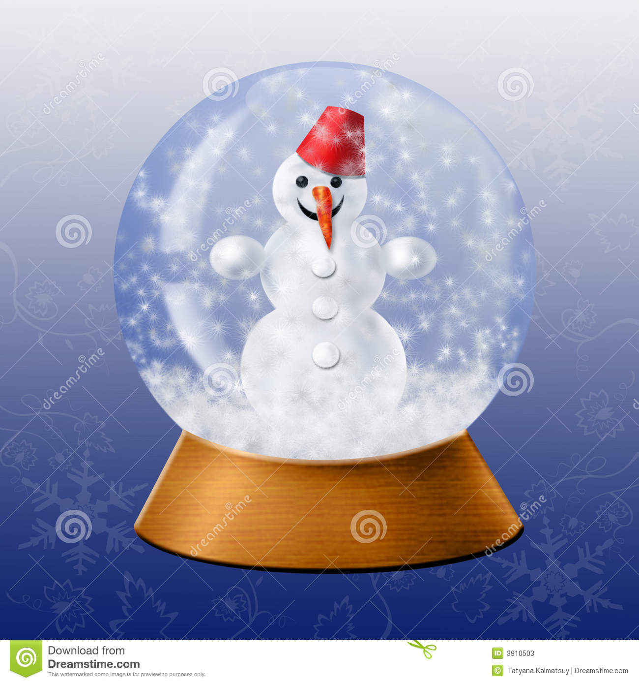 Glass Snow Ball Stock Photos Image 3910503