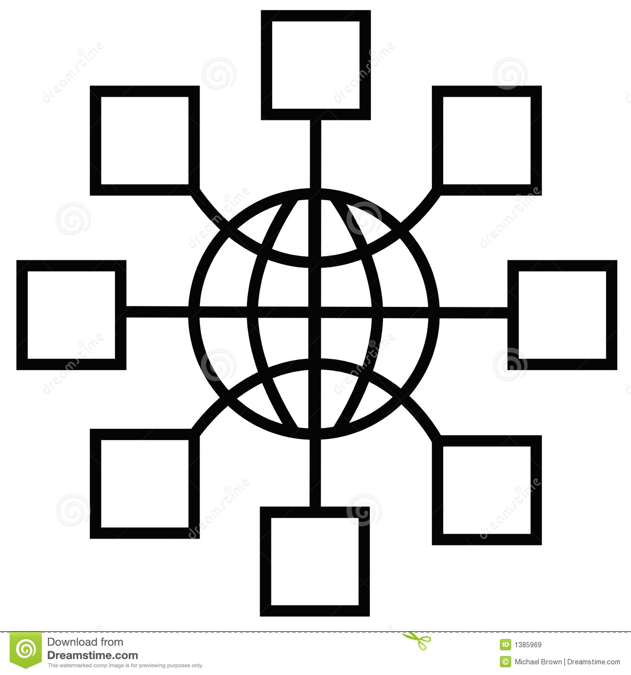 Global Network Nodes Stock Vector Illustration Of Telecom