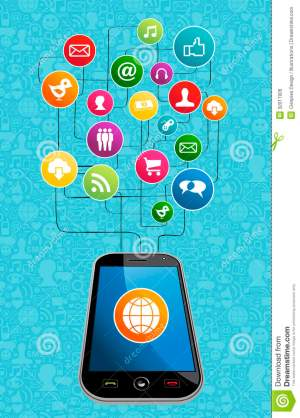 Global Social Media Mobility Stock Vector  Illustration