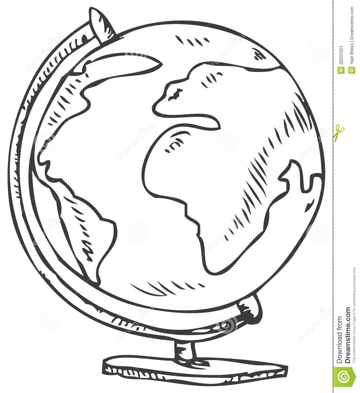 Globe Doodle Stock Vector Illustration Of Childish Earth