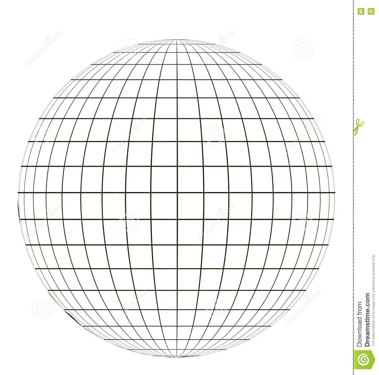 Globe With Grid Stock Vector Illustration Of Backdrop