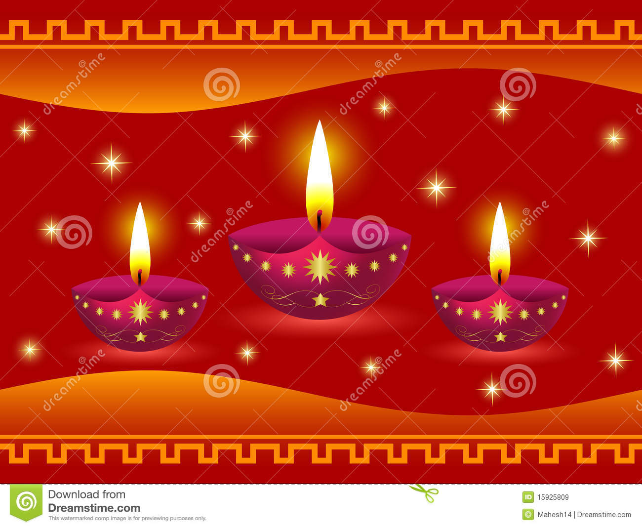 Glowing Diwali Lamps Royalty Free Stock Images Image