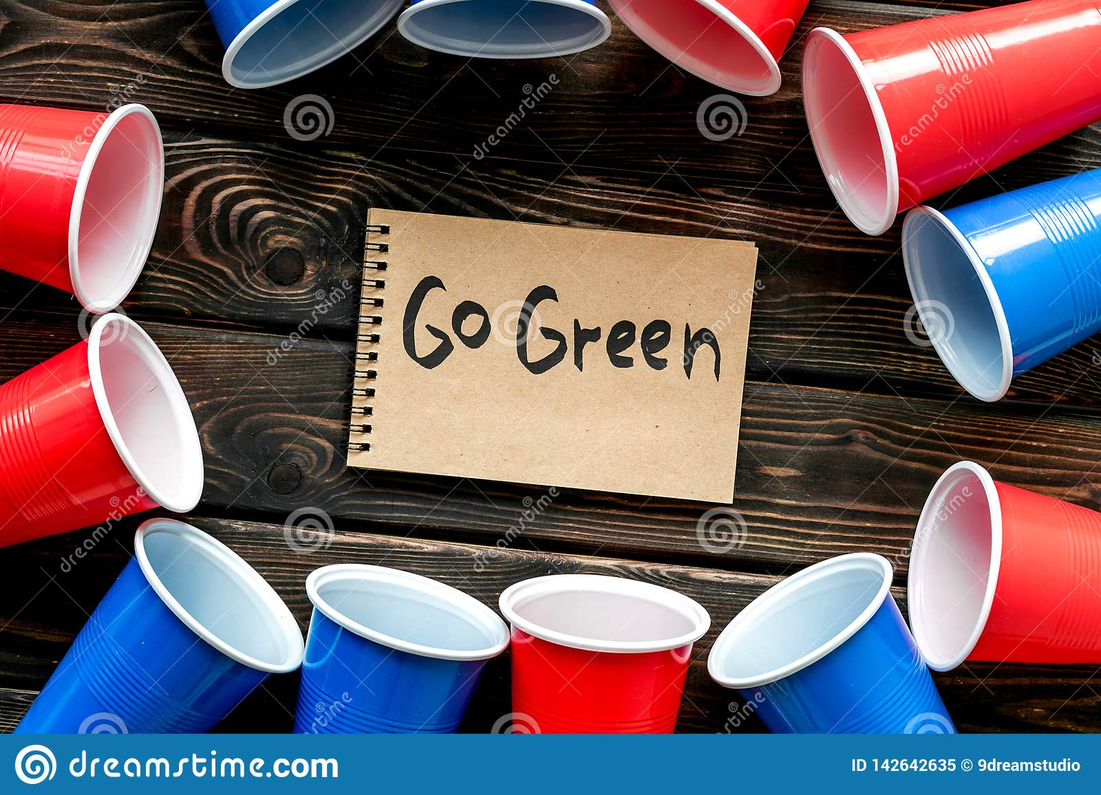 Go Green Eco Concept And Injunction On The Use Of Plastic