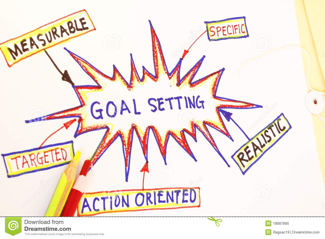 Goal Setting Stock Image Image Of Chart Bound Concept