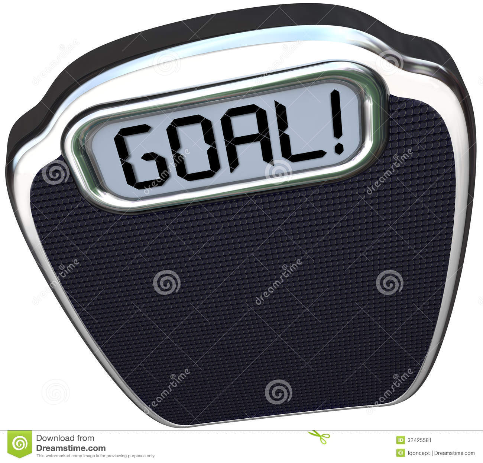 Goal Word Scale Weight Loss Target Lightweight Stock