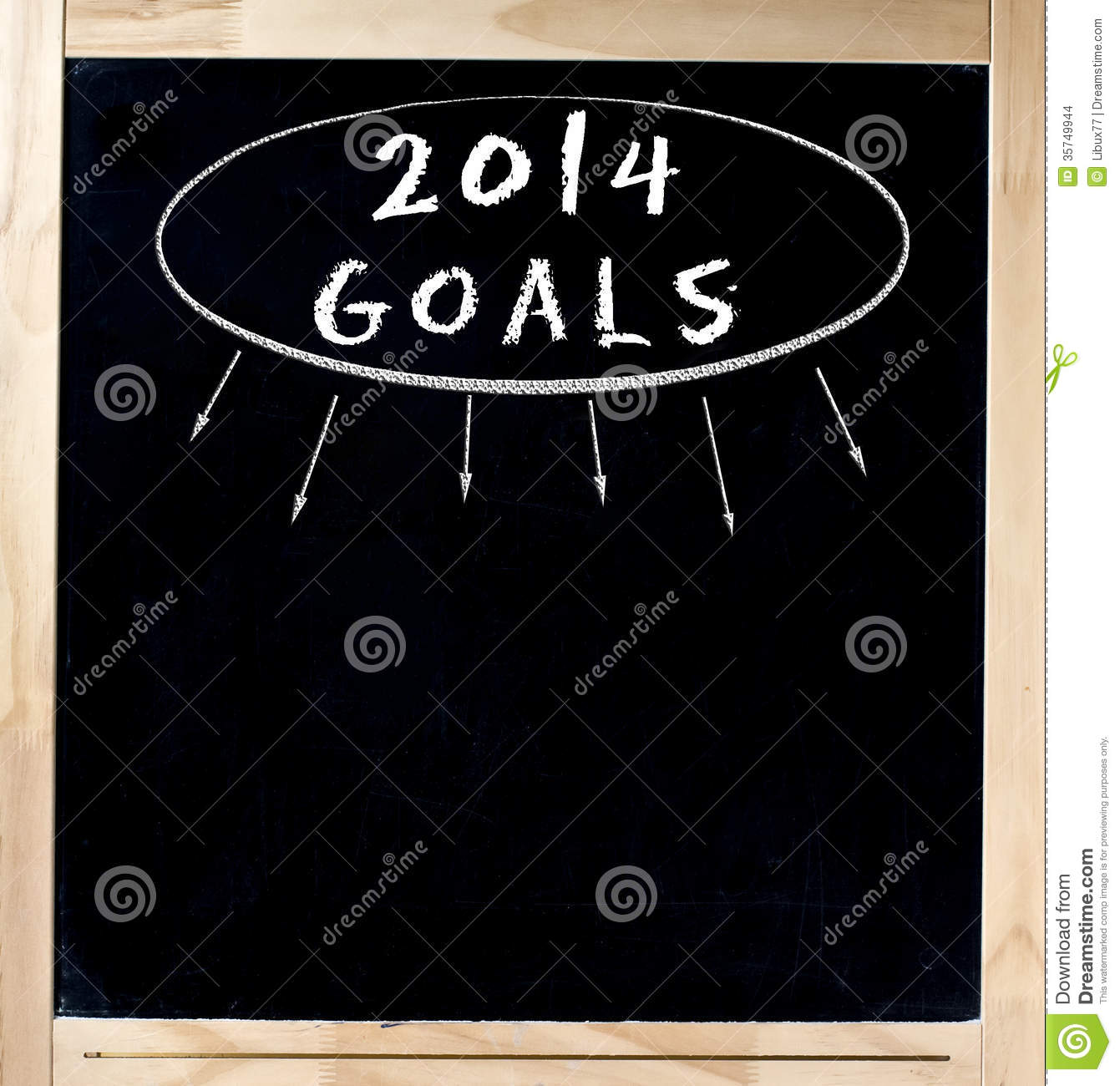 Goals Title On Chalkboard Stock Images