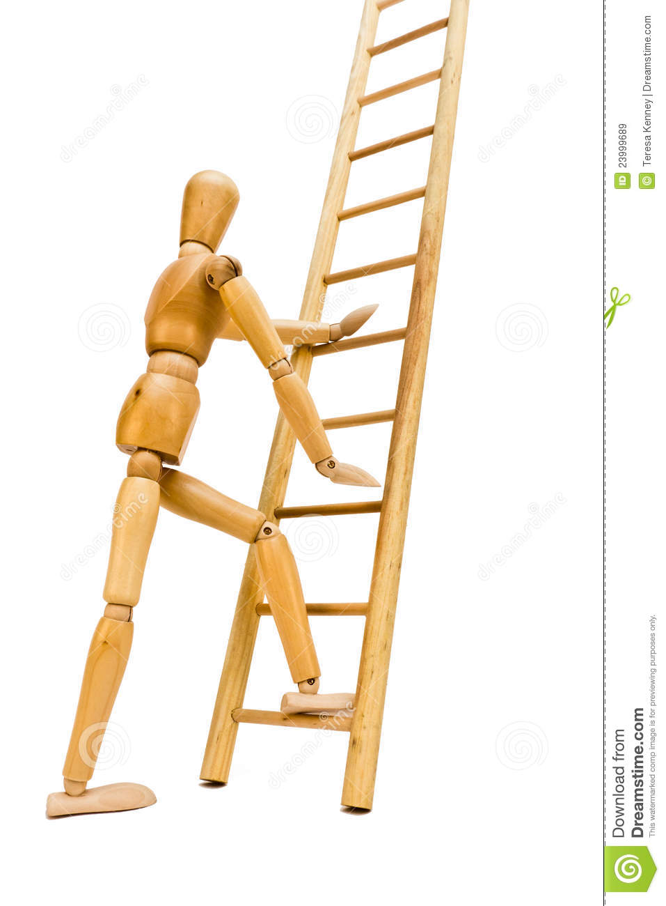 Going Up The Ladder Royalty Free Stock Images Image