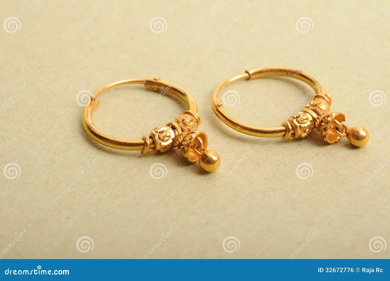 Gold Jewelry Earrings