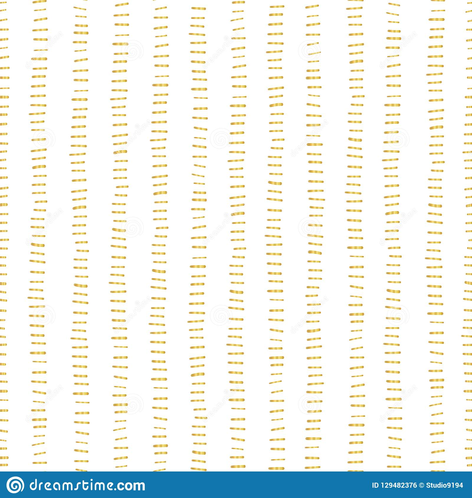 Gold Foil Stripes Seamless Vector Pattern Horizontal