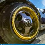 Gold Rim And Black Spokes On A Black Cars Wheels Stock Image Image Of Rubber Auto 129133521