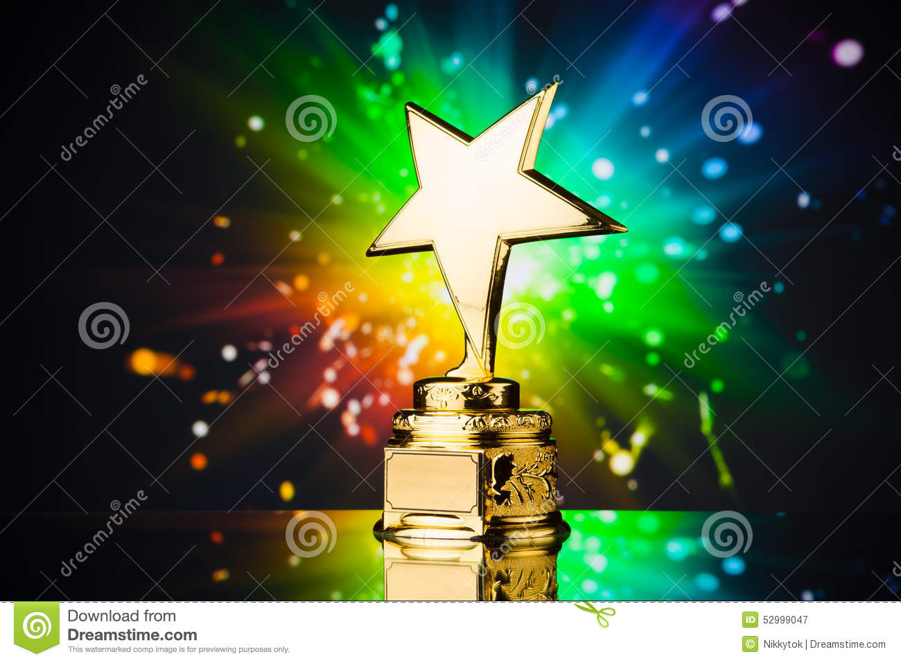 Gold Star Trophy Stock Photo Image 52999047