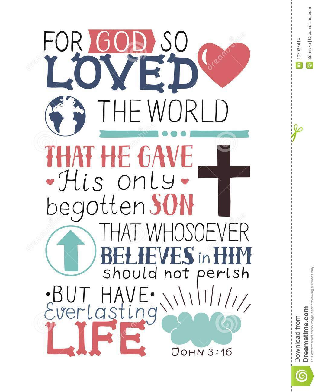 Golden Bible Verse John 3 16 For God So Loved The World