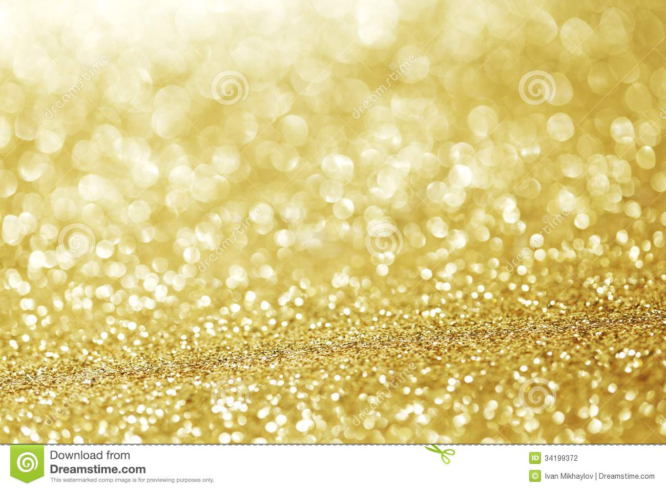 Golden Glitter Background Stock Photography Image 34199372